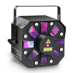 CAMEO STORM trzy w jednym (5x3W RGBAW Derby, Strobe i Laser ) efekt dyskotekowy LED