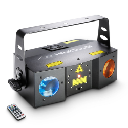 CAMEO STORM FX - 3-in-1 lighting effect with Grating Laser, Strobe and Derby Effect incl. IR-Remote efekt dyskotekowy