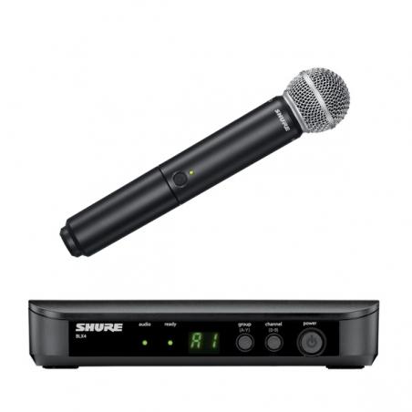 SHURE BLX24E/SM58  system bezprzewodowy z mikrofonem do ręki SM58