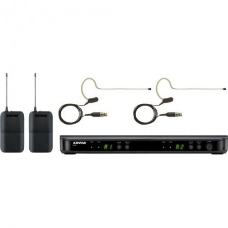 SHURE BLX188E/MX53  podwójny system bezprzewodowy z mikrofonami nausznymi MX153