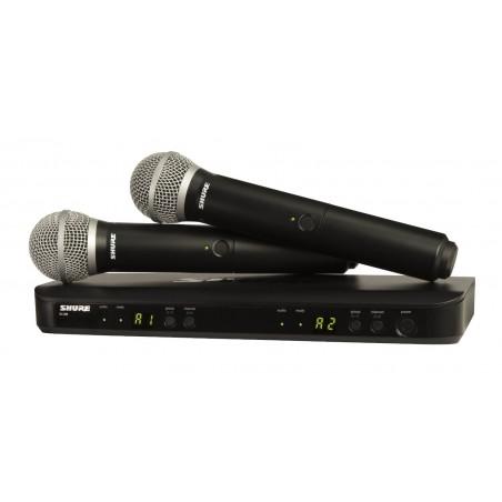SHURE BLX288E/SM58  podwójny system bezprzewodowy z mikrofonami do ręki SM58