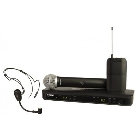 SHURE BLX1288E/P31 PODWÓJNY system bezprzewodowy z mikrofonem do ręki i nagłownym