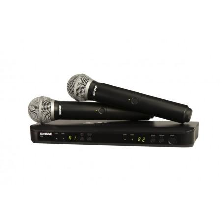 SHURE BLX288E/PG58 podwójny system bezprzewodowy z mikrofonami do ręki PG58