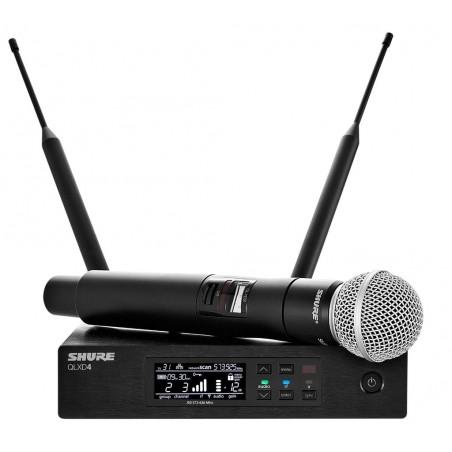 SHURE QLXD24E/SM58 profesjonalny cyfrowy system bezprzewodowy z mikrofonem do ręki SM58