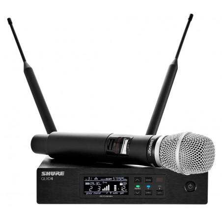 SHURE QLXD24E/SM86 profesjonalny cyfrowy system bezprzewodowy z mikrofonem pojemnościowym do ręki SM86