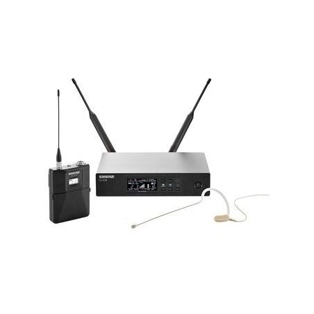 SHURE QLXD14E/153T profesjonalny cyfrowy system bezprzewodowy z mikrofonem nausznym MX153