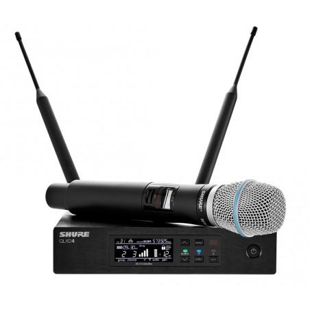 SHURE QLXD24E/B87A profesjonalny cyfrowy system bezprzewodowy z mikrofonem pojemnościowym do ręki BETA 87A