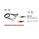 Adam Hall PROCAB REF80355 multicore kable insertowe 5 m 4 x Jack Stereo 6,3 mm na 8 x Jack Mono 6,3