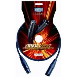 Adam Hall KMC1FMB Krystal Series kabel mikrofonowy OCC XLR FM 1 m