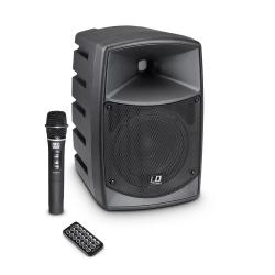LD Systems ROADBUDDY 6 Zasilana z akumulatorów kolumna Bluetooth z mikserem i mikrofonem bezprzewodowym
