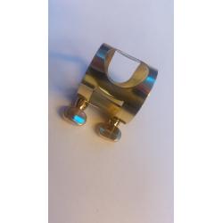 AMATI SP B3 G ligatura ( maszynka ) złoty lakier saksofon tenorowy ( barytonowy )