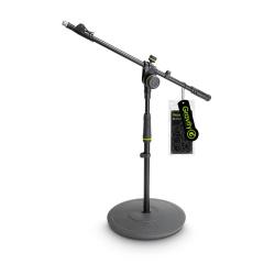 Gravity MS 2222 B statyw mikrofonowy z okrągłą podstawą i dwupunktową regulacją wysięgnika wysuwanego