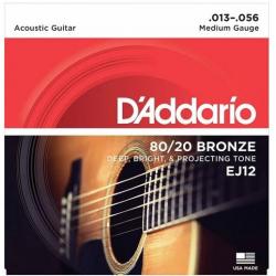 D'ADDARIO EJ-12 struny do gitary akustycznej