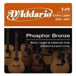 D'ADDARIO EJ-15 struny do gitary akustycznej