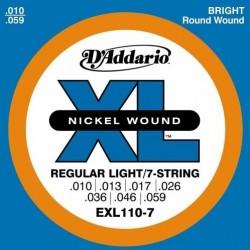 EXL-110-7 D'ADDARIO struny...