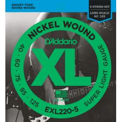 D'ADDARIO EXL-220-5 strings...