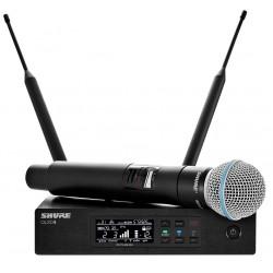 SHURE QLXD24E/B58 profesjonalny cyfrowy system bezprzewodowy z mikrofonem do ręki BETA 58