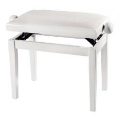 Ława do pianina Gewa biała z połyskiem